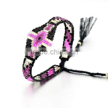 2016 vintage bohemian jewelry new design bohemian friendship Rope&Seed beads bracelet