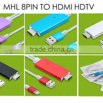 video cable product MHL 8-pin to HDTV adapter sync cable for ipad 4 for iphone 5 6 plus