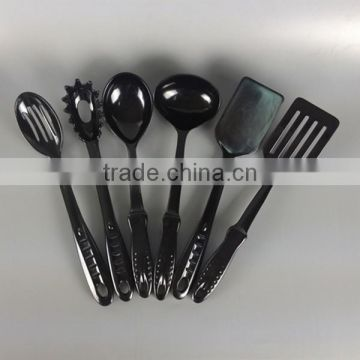 Meneed Full Set 6pcs Black Chinese Names Of Plastic Kitchen Utensils