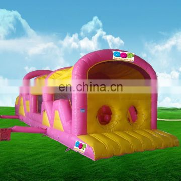 2017 new design Gaint inflatable cute obstacle course for outdoor