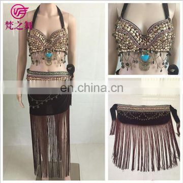 GT-1066 Tribal egyptian full coppers tassel belly dance costumes