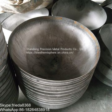 Carbon steel ellipsoidal head for water tank with diameter 1500