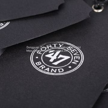 Custom matte finish paper hang tags labels  for clothing