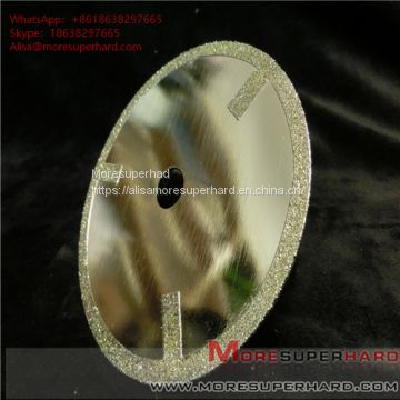 Electroplated diamond cutting discs have very sharp cutting performance and generate minimum heat  Alisa@moresuperhard.com