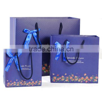 Hot sale type colors thermal design Logo printed foldable paper shopping gift bags printed paper bag ...