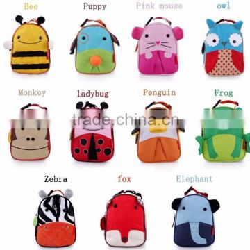 Cartoon Portable Package Food Meal Insulated Kids Lunch Bag