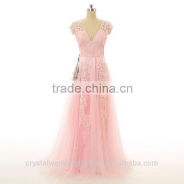 Alibaba Elegant Applique Lace Pink Pageant Beach Evening Dresses New ...