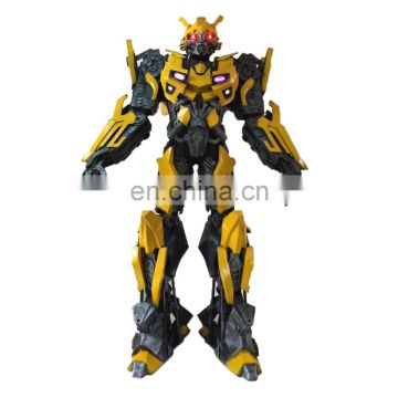 2 7m Adult Robot Bumblebee Carnival Halloween Cosplay Costume Of