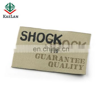 Custom design woven labels for clothes/shoes/bags