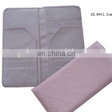 Eco-friendly Good Handcraft Qualitied Leather Passport Case