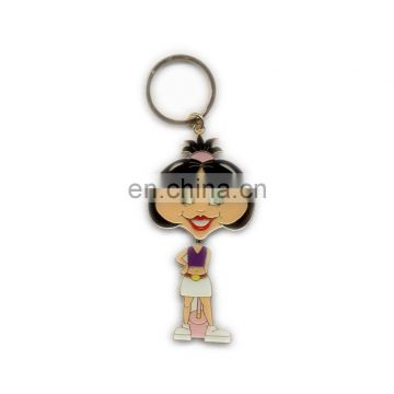 OEM Metal Key Chain Girl Figure Keyring