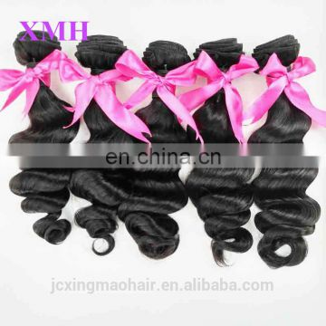 Grade 7a tangle free peruvian virgin hair,wholesale 100% human virgin peruvian hair loose wave