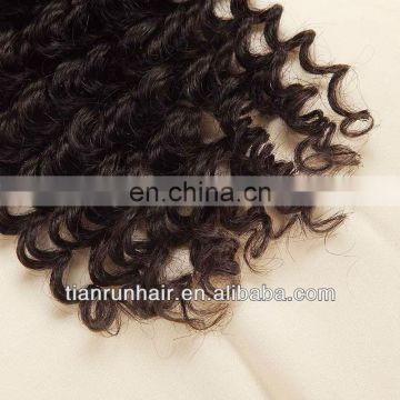 manufactured deep wave virgin brazilian remy human hair extensions products made in china from Brazil