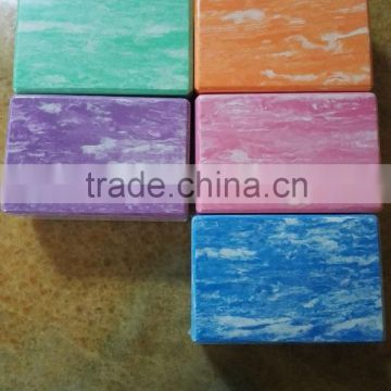 "Colorfull EVA Yoga Block 9""x6""x3"" Made With The Best, Durable Eco Friendly Recycled Foam"