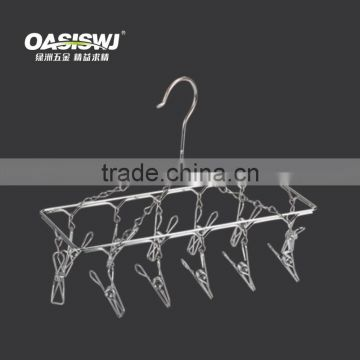 Stainless steel foldable wire clothes hanger