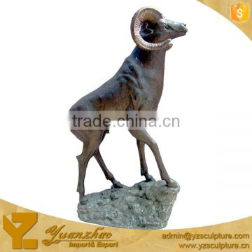 Large Size Bronze Casting Animal Goat Sculptures for Park
