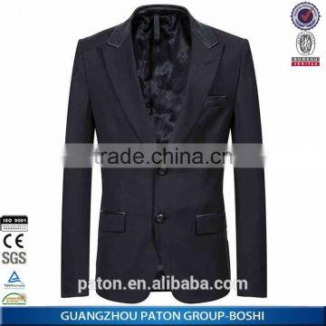 Bespoke Latest Suit Styles For Men Black Solid Color Business Suits & Tuxedo