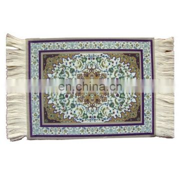 printed carpet rug mouse pad with fringe