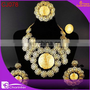 african gold plated jewelry sets wholesale CJ071