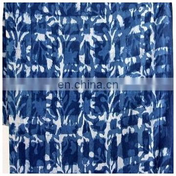 5 Yards Hand Block print Indigo fabric Soft Cotton Indian Fabric Blue Color D54F