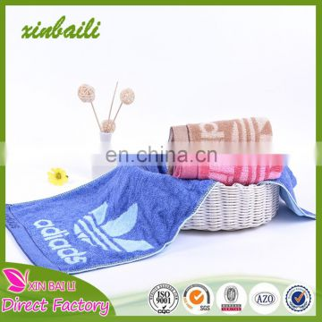 Hot sale 100% cotton face towels jacquard sports towels for running walking 33*74cm 110g