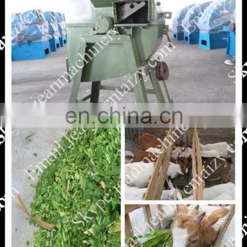 Small straw chaff cutter machine / grass crusher machine for cows and sheep feeding (SKype:jeanmachinery)