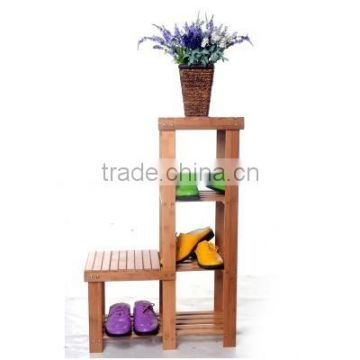 Wooden Bamboo Shoes Rack Stand