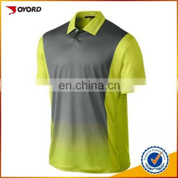 wholesale Custom Design polyester spandex sublimation dry fit golf Polo shirt for man