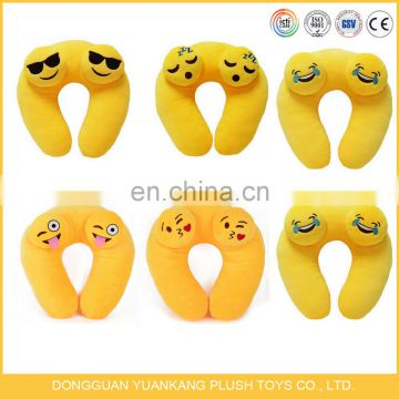 Fast delivery whatsapp custom plush stuffed emoji neck pillow