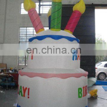 birthday cake inflatable