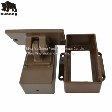 Garden outdoor fence post mounting brackets
