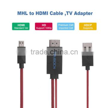 MHL Micro USB to HD MI 1080P HDTV Cable Adapter for Samsung Galaxy S5 Note3 New