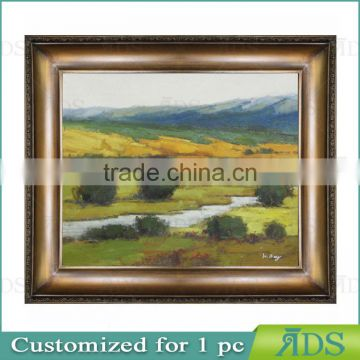 Wall Decorative Handmade Village Scenery Oil Painting Canvas Art
