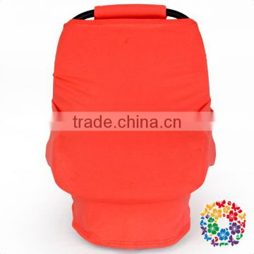 New Style Orange Solid Color Nursing Cover Organic Cotton Multi Use Car Seat Cover Baby