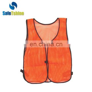 Breathable safe and convenient orange vest