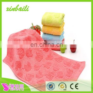 wholesale jacquard apple bamboo fiber child clean towel