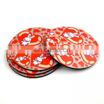 Fashion design printed round tea cup pads