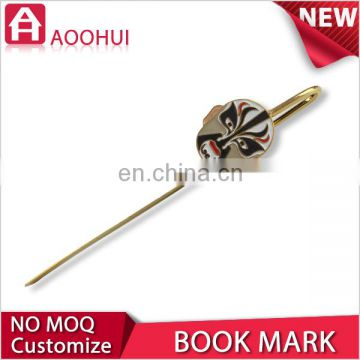 Hot new design gold plating brass bookmark