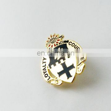 High Quality Cheap 3D Logo Design Gold Badge Pin Enamel Colors Lapel Pin