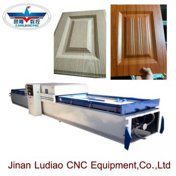 Wood cabinet door PVC film vacuum  hot membrane press machine with double tables
