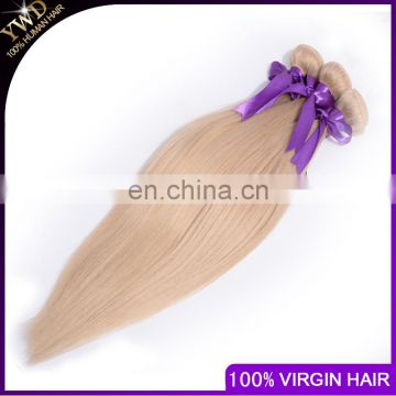 10-26inch 8A Platinum Blonde Brazilian Hair Aliexpress uk 613 color Human Hair White Hair Extensions