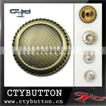 CTY-SB-021 metal snap on button