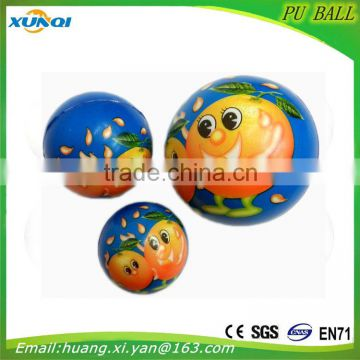 Baby toy Soft anti stress ball,Fruit PU foam Ball