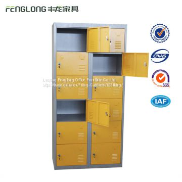 Steel cubby clothes lockers small metal locker with 12 door