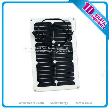 Sunpower 20W 12V flexible solar panel for boats car Rv kits