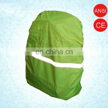 100% Polyester Taffeta Waterproof Safety Bag Cover High Reflective Backpack Cover