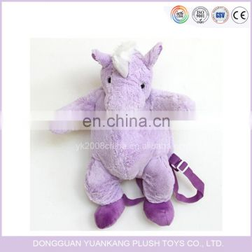 custom plush backpack unicorn plush backpack for kids