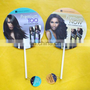 High performance round shape hand fan with long handle