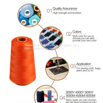OEKO-TEX Standard AAA Grade High strength YIZHENG polyester stable fiber Hubei Textile Sewing Thread