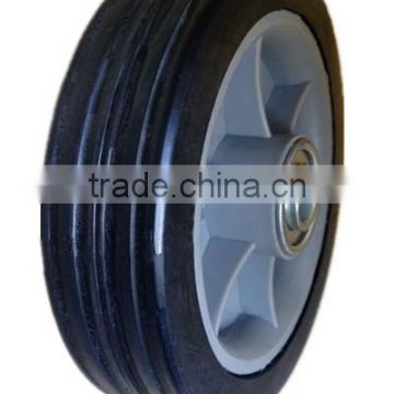 5 inch semi-pneumatic rubber wheels with bearing for garden cart, shopping trolley, bassinet